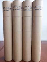 kraft paper tube poster mailing tube with end paper cap