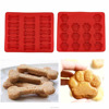 Puppy Paws & Bones Silicone Baking Molds-Pan-Ice Trays Set of 2