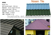Colorful Sand Coated Metal Roof Tile Nosen Tile for House Construction