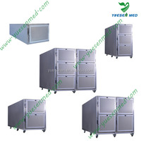 stainless steel mortuary body morgue refrigerator equipment