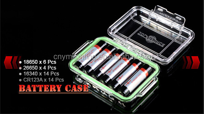 Small Dimensions Transparent Waterproof Portable Battery Case