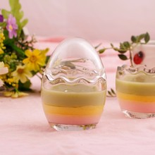 200ml wholesale particular egg shape pudding milk bottle of high quality