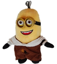 Endearing Children Plush Toy Cute Minion Soft Toy with Glasses and Coat Fashion Toy Minion