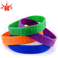 custom debossed silicone power energy bracelet with rubber gift