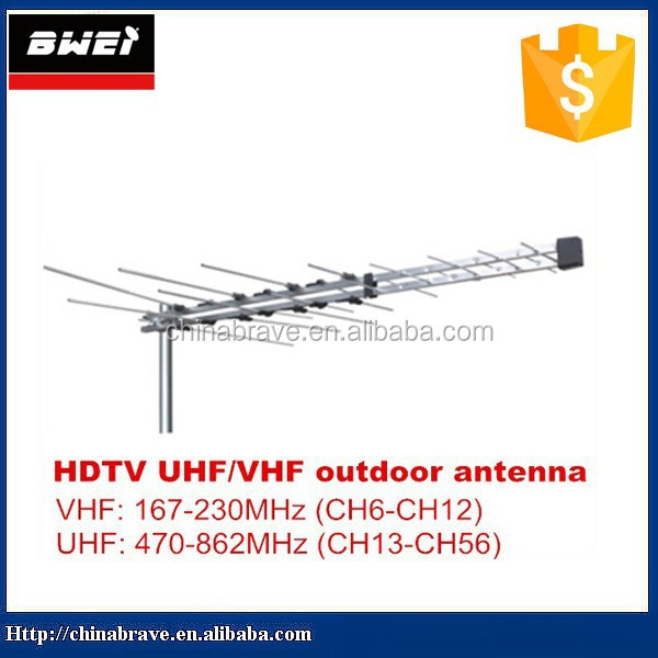 vhf uhf outdoor tv antenna digital yagi antenna 32 elements high gain