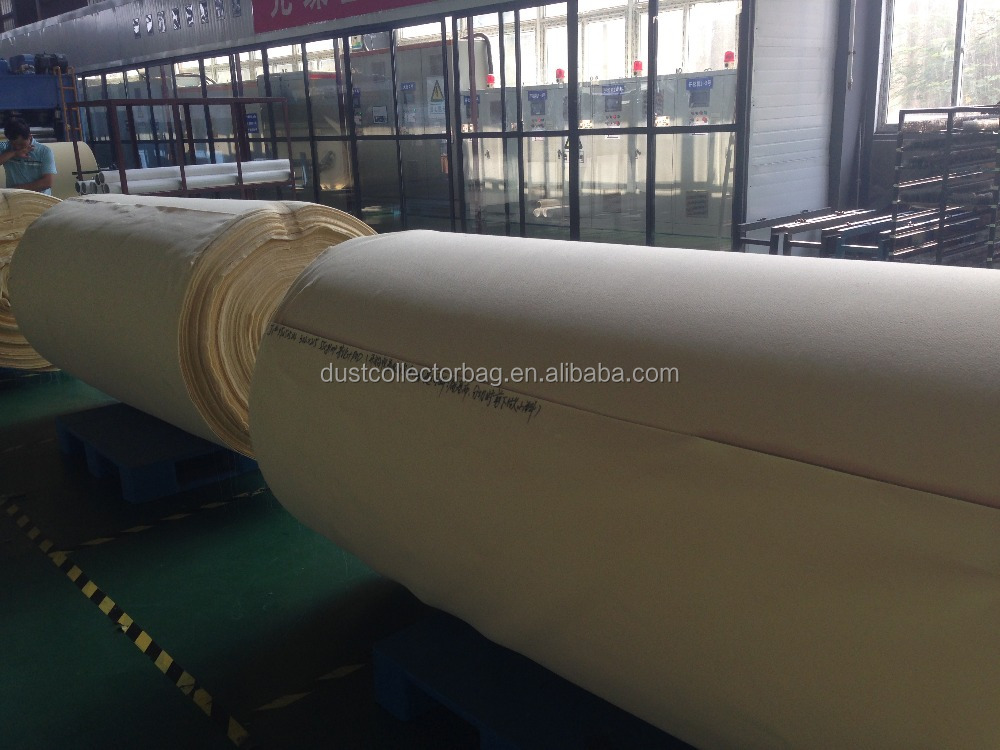 Steel Plant Nomex/Polyester Dust Filter Fabrics in Housing