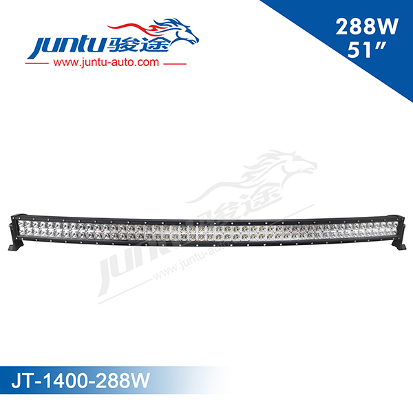 "288w 20160 lm 50"" double stack 10-30v DC white color IP67 Waterproof 288w Cruved led light bar"
