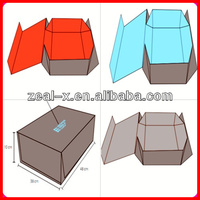Magnet Catch Recycled Brown Paper Favor Foldable Apparel Packing Fold Down Box