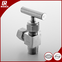 customized 3000psi stainless steel coupling angle needle valve for cng dispenser