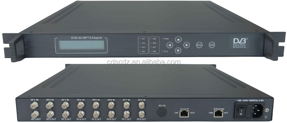 DVB-S2 professional dvb-s tuners ip gateway to udp(8*DVB-S2 in,64*SPTS UDP/multicast/Gigabit out)