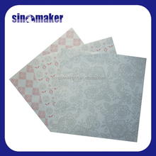 double side printing patterned pearlscent paper for scrapbooking