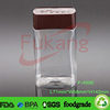 450ml rectangle shape clear coffee powder jar,PET plastic green tea container,wholesale plastic sugar bottle