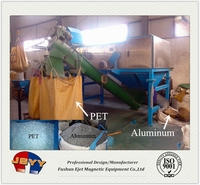 pet bottle plastic containing aluminum recycling machine