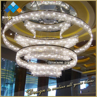 customization luxury modern large hotel project decoration chandelier