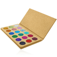 18Color Pressed Yellow Glitter Eyeshadow Palette Diamond Rainbow Make Up Cosmetic Eye shadow Magnet Palette