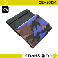 polyester portable folded solar panel bag pack for outdoor
