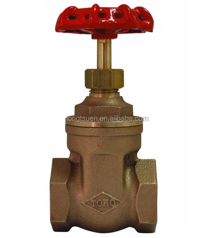 Model ST-201 Taiwan TOHO Brand screwed end handle wheel full port screwed bonnet water/ steam non rising stem bronze gate valve