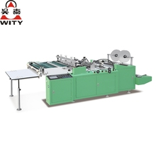 High speed double lines heat cutting side sealing bag making machine