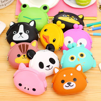 Wholesale smart cute silicone coin wallet/purse/bag
