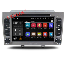 Free shipping HD 1024*600 Android 7.1 car audio car dvd player For Peugeot 308 408 with 4G WIFI BT DVD GPS navigation radio
