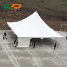 Cheap On sale 100 seater dining Rope and pole tent 40x40 with white draping