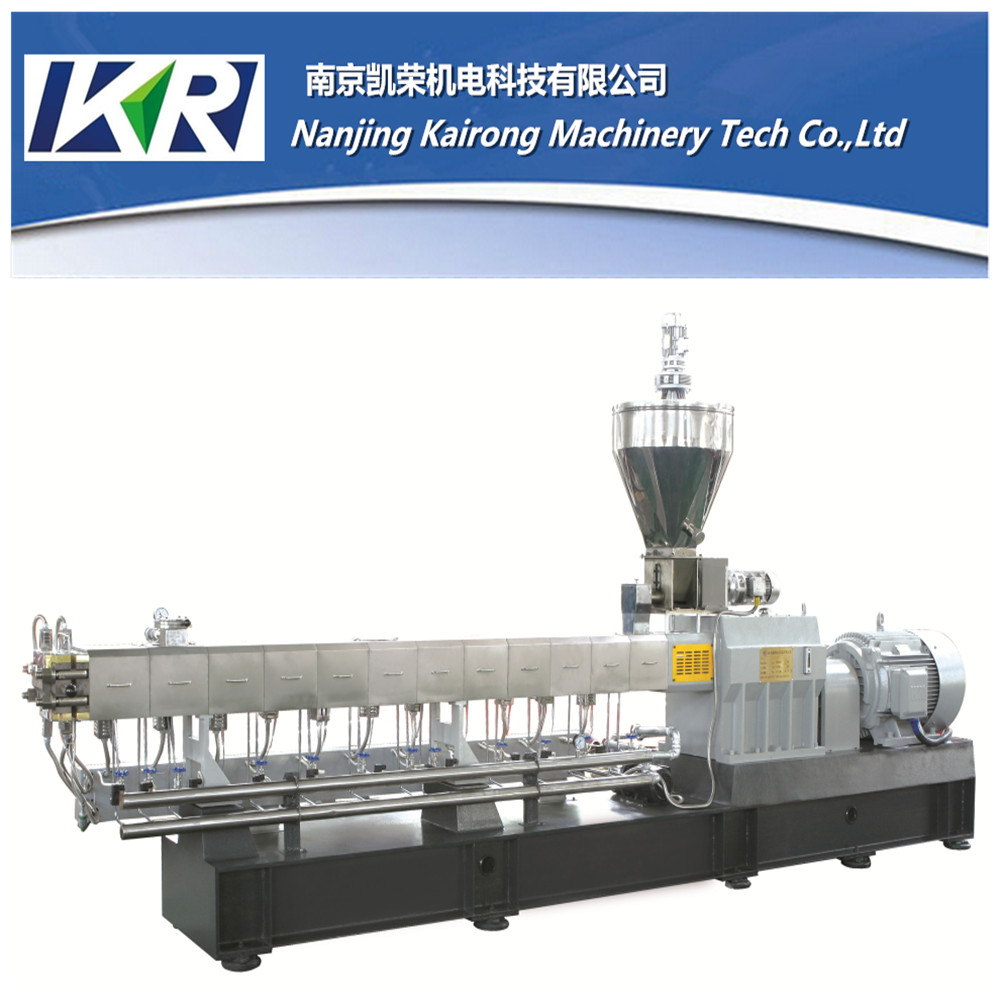 White Masterbatch Extruder Machine Recycling Extrusion Pvc Cable Material In Two Stage Extrusion