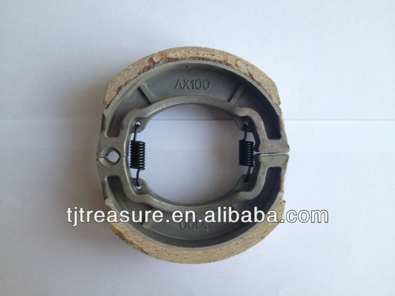 Best price motorcycle spare part AX100 thickness A class motorcycle shoe brake