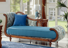 Elegant and classical design blue color lovely seat chaise lounge for two people