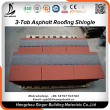 20years Warranty Economic Wholesales Price 3-tab red blue asphalt shingles