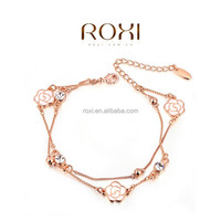 ROXI Fashion jewelry Gold Plated bangles bracelets Charm chain link bracelet jewelry factory wholesale price