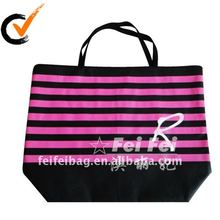 Nonwoven big zip lock shopping bag with stripe printing