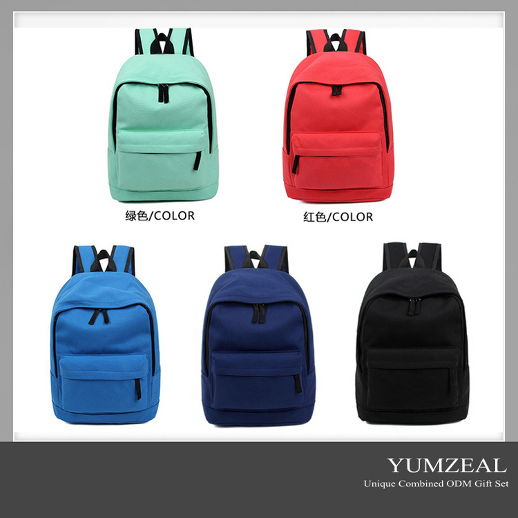 2016 hot sale custom large laptop bag backpack with embroidery logo