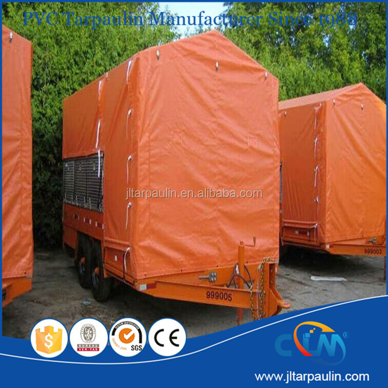 Fire retardant tarpaulin for truck covers