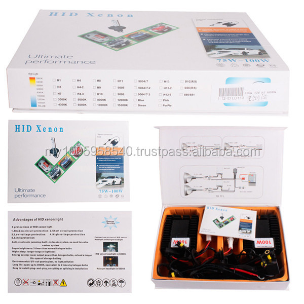 Free Shipping Brand New Xenon HID Conversion Slim Kit H1 H3 H4 H7 9005 9006 H8/H9/H11 9004/9007 H13 AC 12V