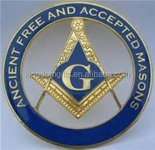ancient free and accepted masons car emblem, masonic car badge with name