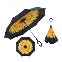 Best China inverted umbrella with c handle rain sun cheapest price