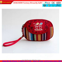2014 stylish canvas handbag for ladies, change purse