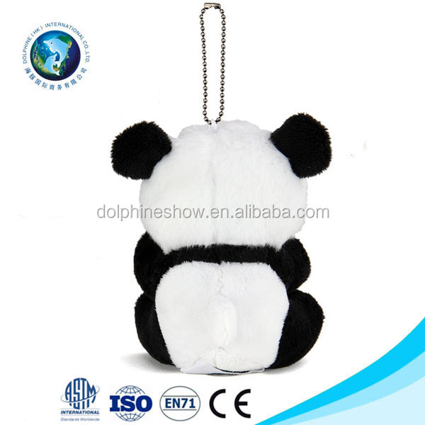 New stuffed mini animal toy panda plush keychain promotional plush panda keychain