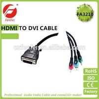 DVI TO 3RCA COMPONENT CABLE FOR LAPTOP PC LCD TV