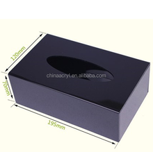 Factory directly sale transparent acrylic tissue box for hotel