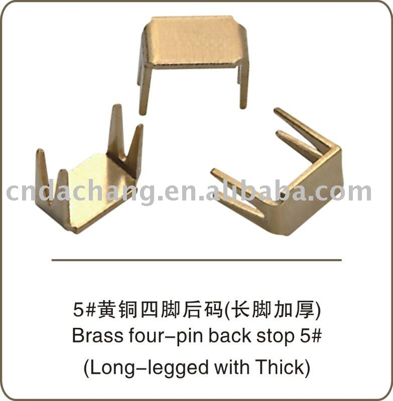 Brass four-pin bottom stopper no.5 Thicken and long leg garment accessories