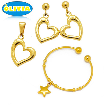 Olivia New Arrival Stainless Steel Turkish Gold Jewelry Set Women Jewelry Best Seller
