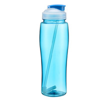 Eco-Friendly 750ml Portable BPA Free Sport Drink Cycling Hiking Outdoor Bike Gym Water Bottle With Flip Straw Space Cup