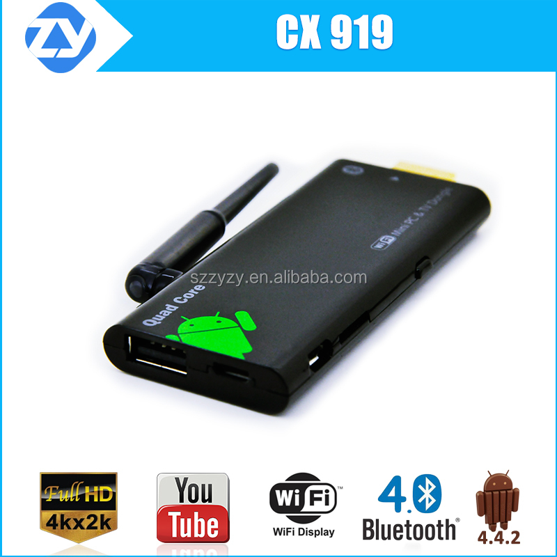 android hdmi dongle linux 4k quad core rk3188 android smart tv stick/dongle CX919 mini pc