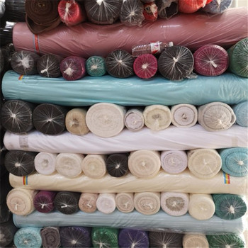 High quality plain woven 100% polyester satin fabric stocklot for clothing