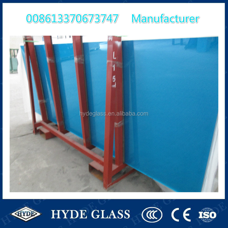 China 5+0.38+5mm blue laminated safety glass