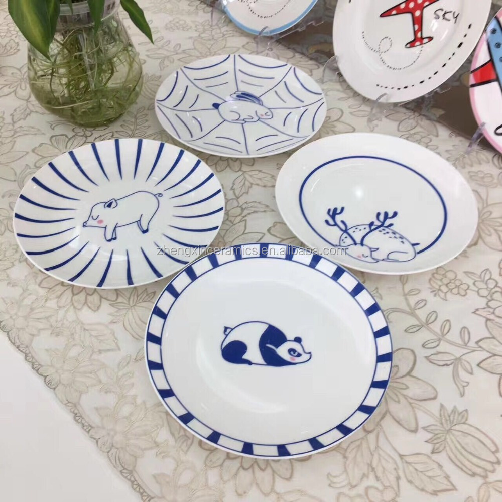 nice wholesale lovely ceramic round platter plate for wedding