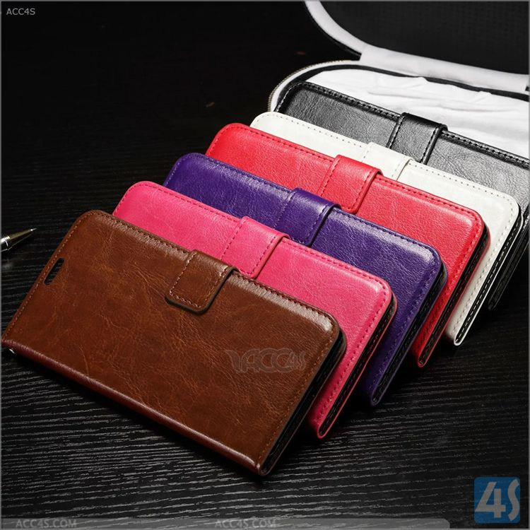For HUAWEI Ascend P9 flip card slot cases cover Crazy Horse PU Leather Case for HUAWEI Ascend P9