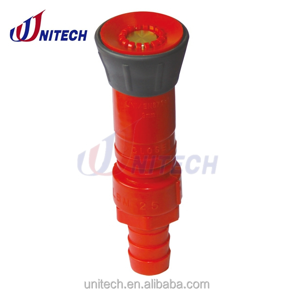 plastic rotating type fire flexible hose nozzle