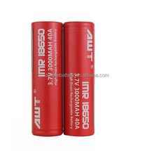 Ecig 18650 battery AWT 18650 3000mah 40A battery charger 18650 for e vape egypt vape e-cigarette mod